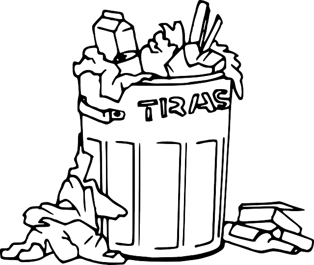 trash can coloring pages - photo#16