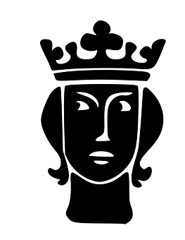 Silhouette King Portrait Black Crown