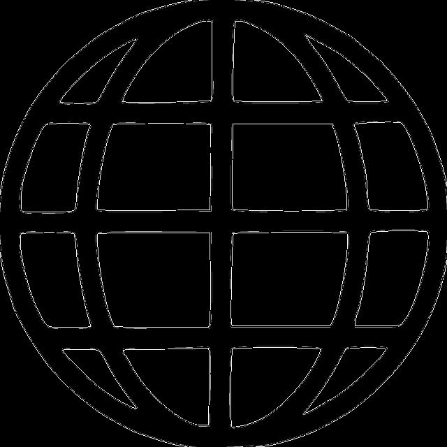 Globe earth symbols black and free vector graphic on pixabay for Logo sito web