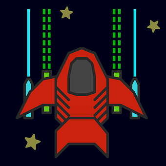 Spaceship, Rocket, Space, Game, Fight