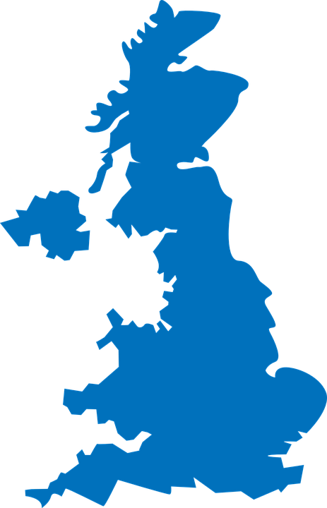 Uk Map Vector United Kingdom Map   Free vector graphic on Pixabay