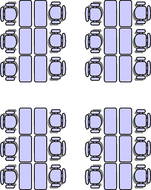 classroom seating arrangements  u00b7 free vector graphic on
