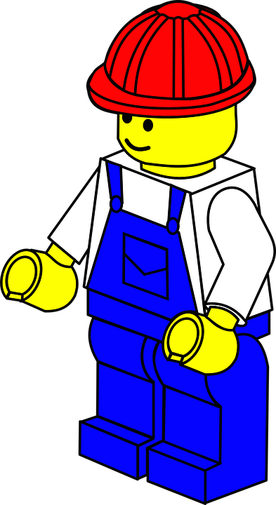 Lego, Man, De Bouw, Helm, Speelgoed, Stuk, Werknemer
