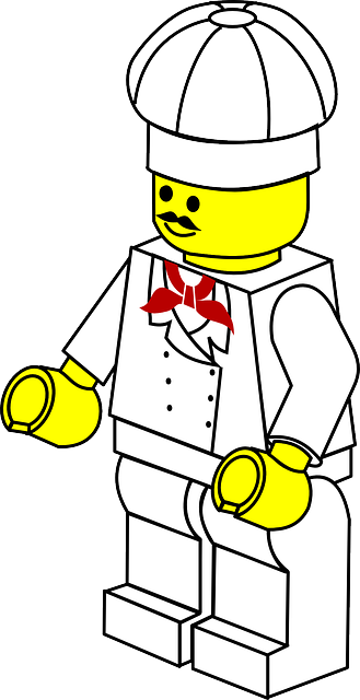 Kostenlose vektorgrafik lego kochen spielzeug spielen