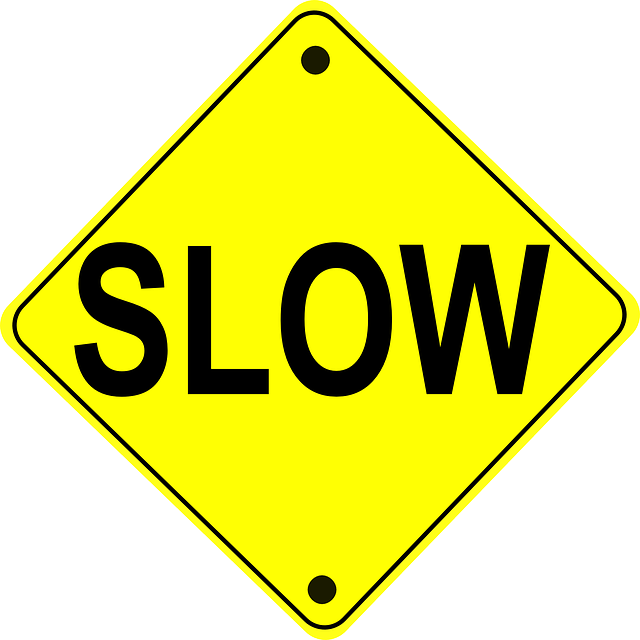 Warning Sign Slow Traffic 183 Free Vector Graphic On Pixabay