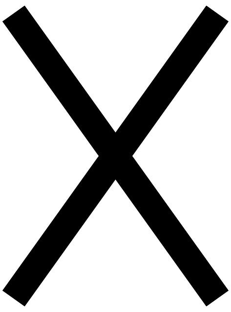 Free Vector Graphic Cross Black Symbol Stop Sign