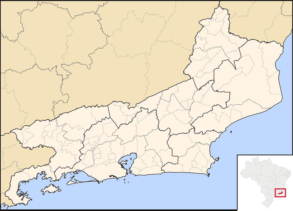 Rio Map De Janeiro · Free vector graphic on Pixabay