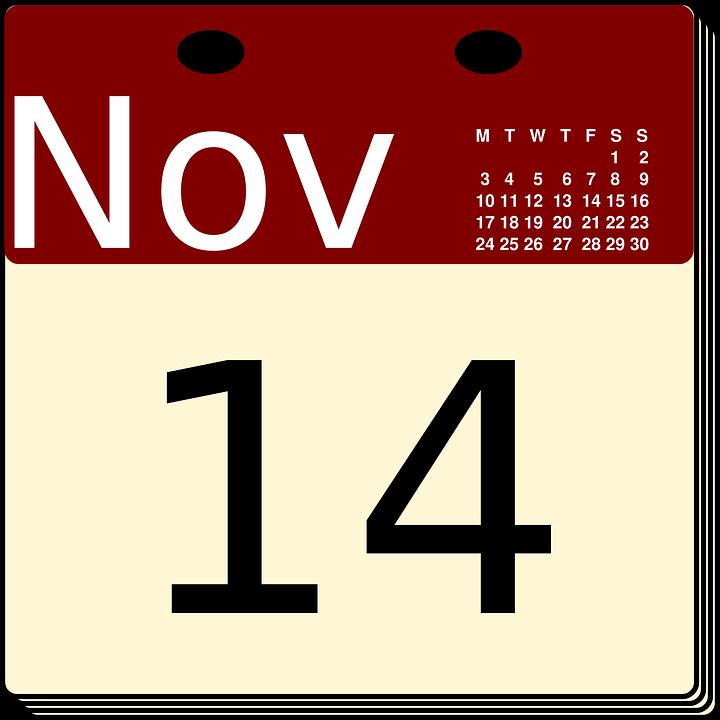 Calendario Noviembre Fecha 183 Gr 225 Ficos Vectoriales Gratis