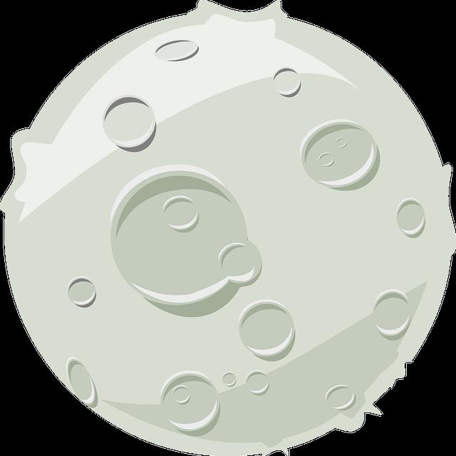 Lua Crateras Lunar Grafico Vetorial Gratis No Pixabay
