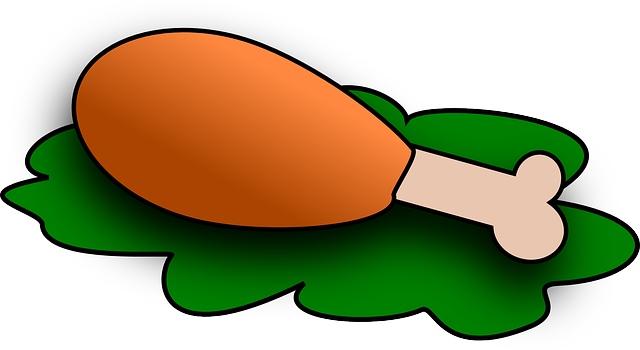 Free vector graphic: Turkey, Chicken, Food, Drumstick ... Fried Chicken Leg Png