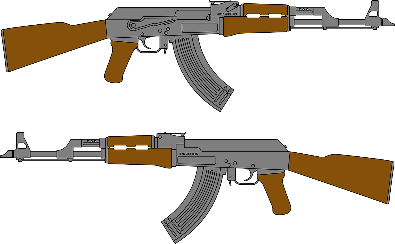 Картинки нарисованного оружия в цвете