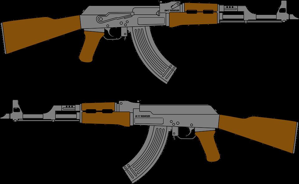 gun assault rifle free vector graphic on pixabay rh pixabay com