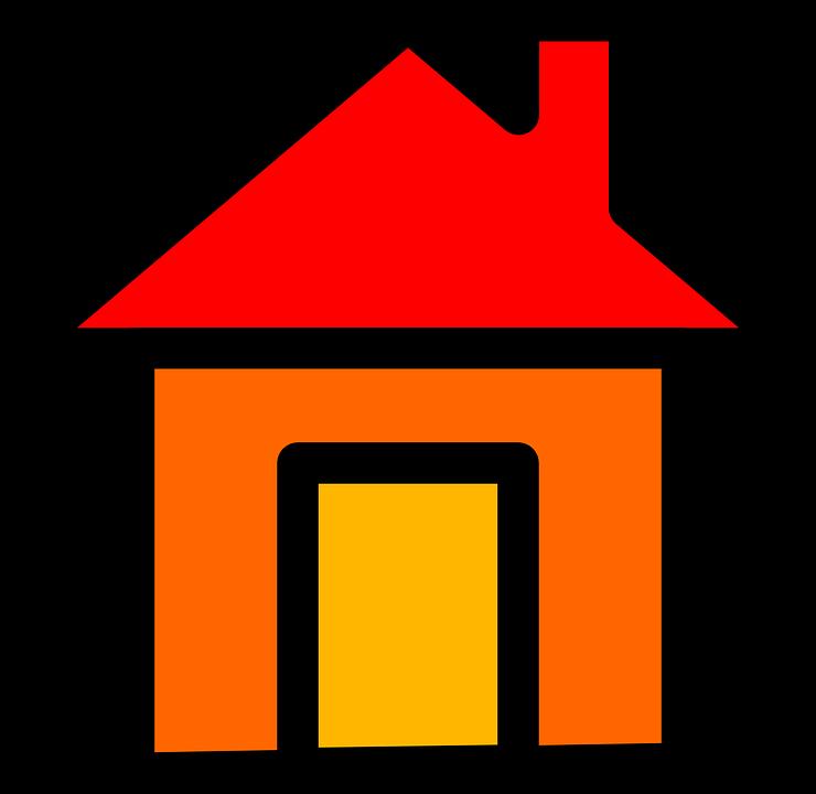 Kostenlose Vektorgrafik Haus Home Rot Start Button