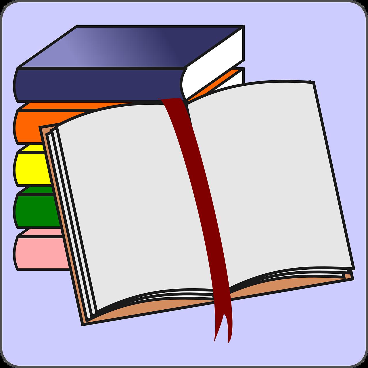 Bücher Offenes Buch Bookmarker - Kostenlose Vektorgrafik auf Pixabay
