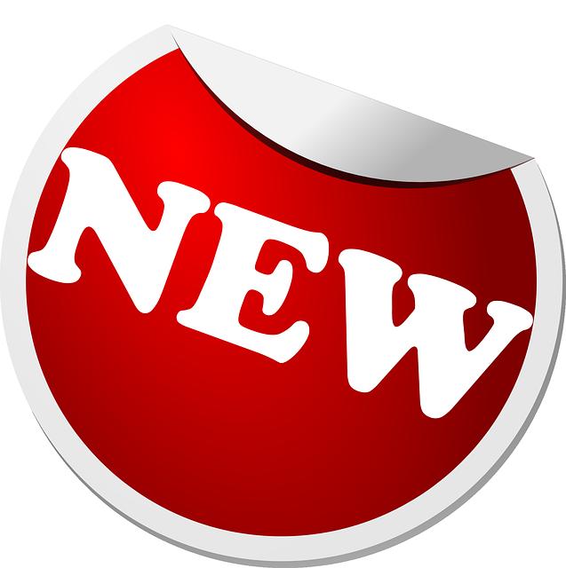 Image vectorielle gratuite tiquette nouvelles red - Porte cle photo plastique transparent ...