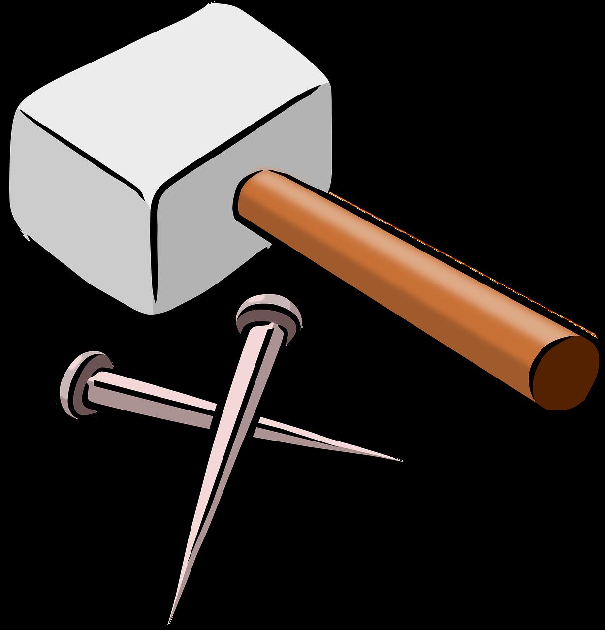 рисунок гвоздь и молоток