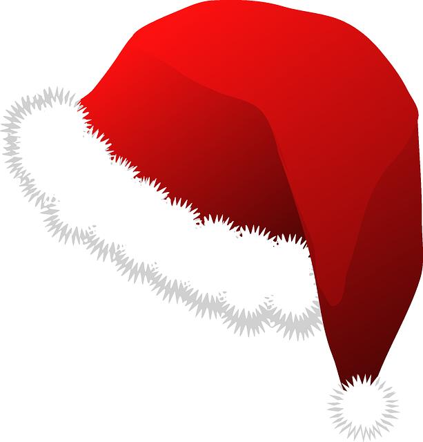 Immagine vettoriale gratis cappello di santa natale for Clipart natale free download