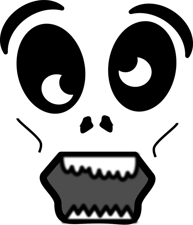 scary face head black and · free vector graphic on pixabay