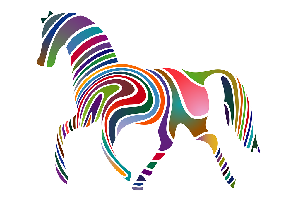 Horse Rainbow Colors Colorful · Free vector graphic on Pixabay