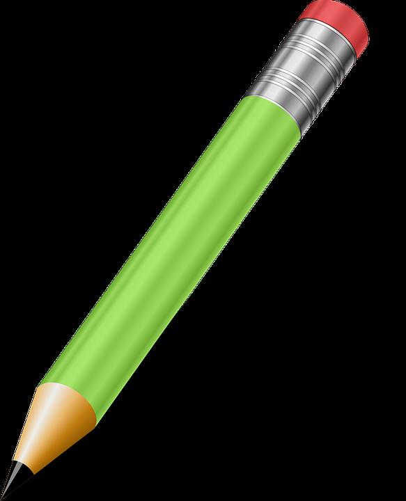 Crayon, Vert, Outils D'Écriture, Fournitures Scolaires