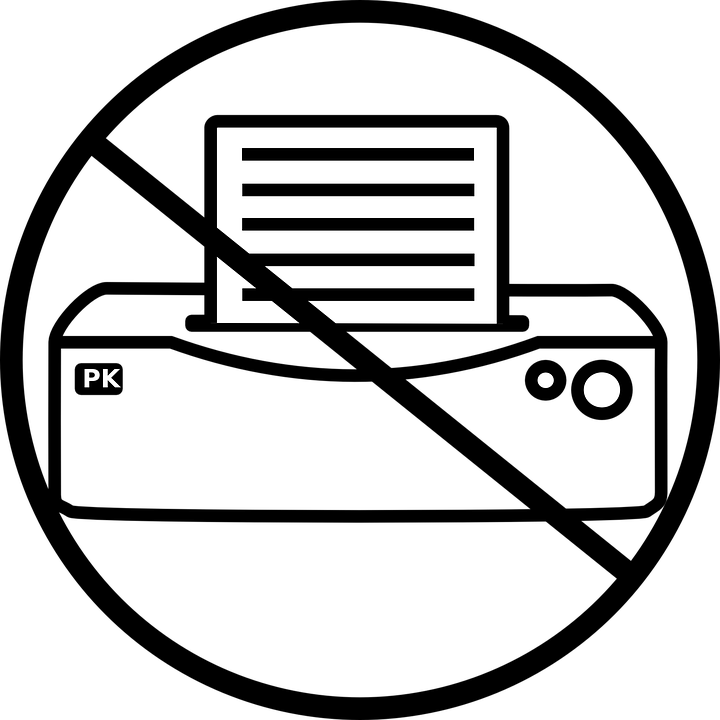 printer no printing icon symbol equipment sign - Free Images For Printing