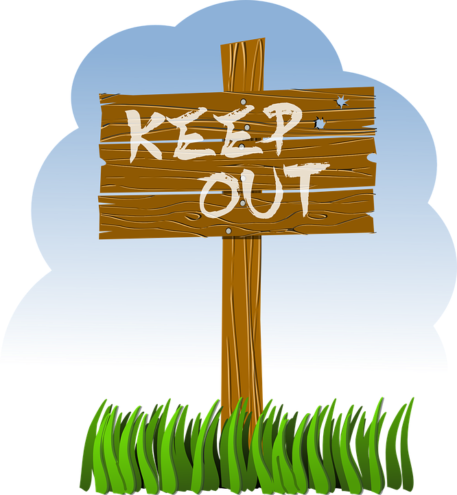 Post Wood Keep Out Free Vector Graphic On Pixabay