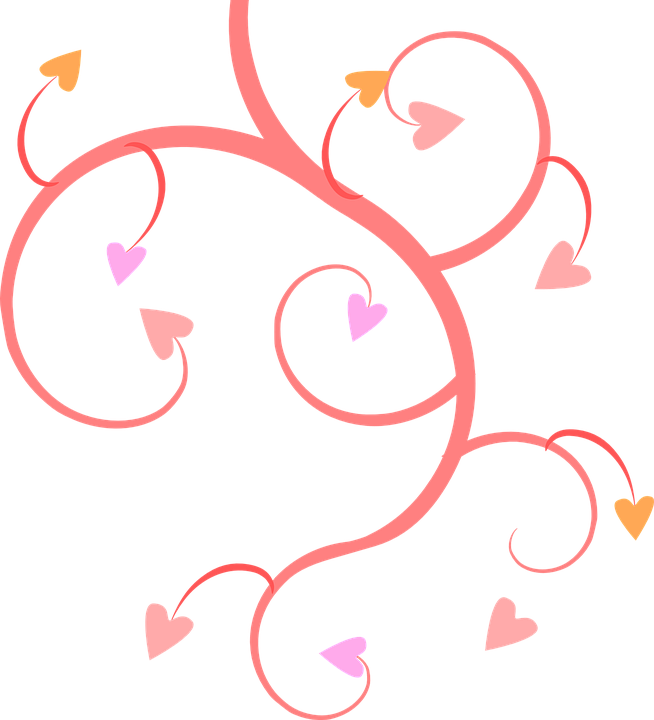 pink vines hearts free vector graphic on pixabay rh pixabay com wedding vector illustration free free wedding vector design