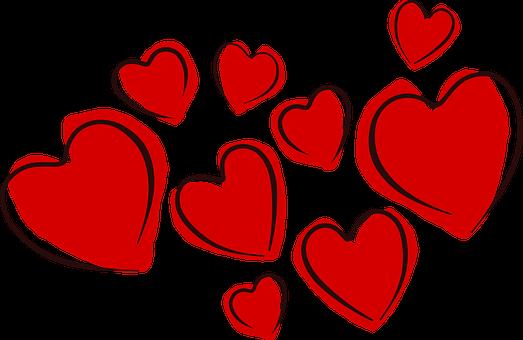 Hearts, Valentine, Love, Romance