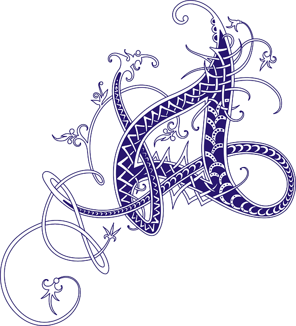 Free Vector Graphic Celtic Calligraphy Letter Free