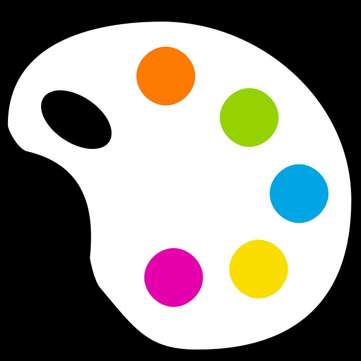 Vector gratis paleta pintura color colores imagen - Paleta de colores pintura pared ...