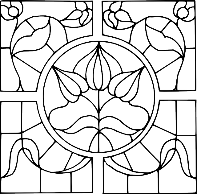 stainglass coloring pages - photo#32