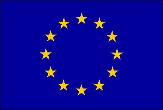 bandiera europa sfondo blu  u00b7 grafica vettoriale gratuita su pixabay
