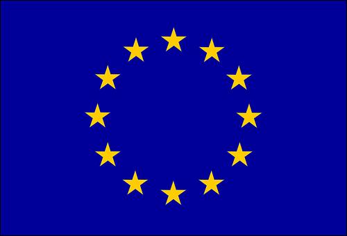 Drapeau, Europe, Fond Bleu
