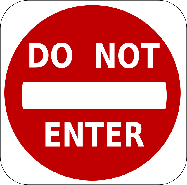 free vector graphic no entry do not enter entry free image on