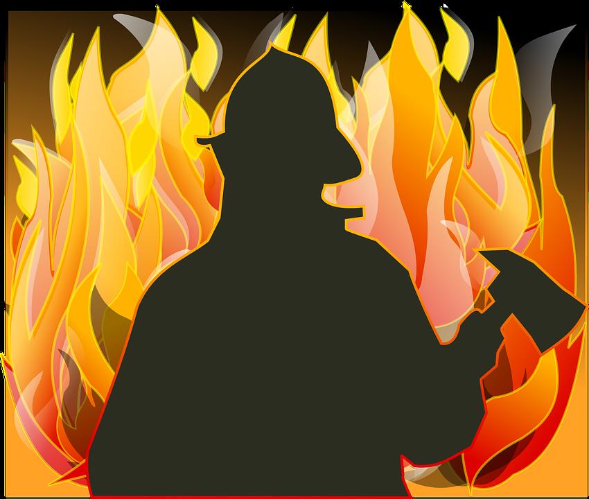 Fireman, Ogień, Topór, Zapisz, Kask, Walki, Odwaga