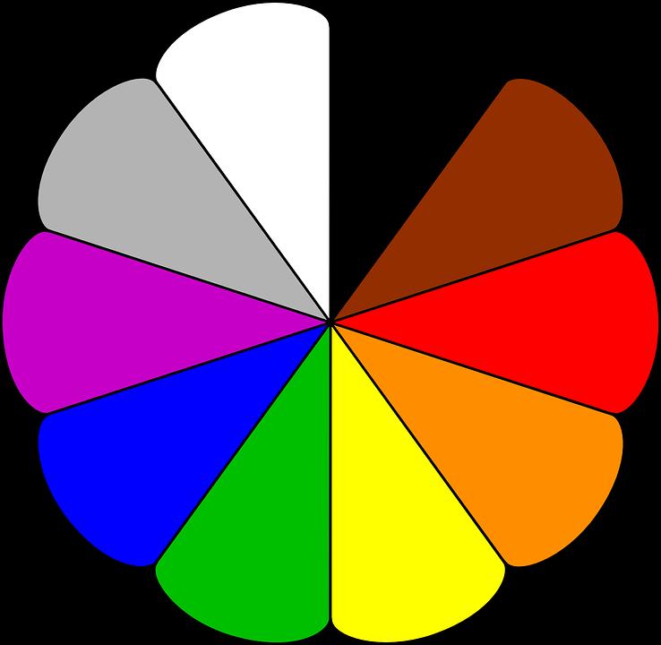 free vector graphic colours  rainbow colors  circle pencil clipart vsg pencil clipart black and white