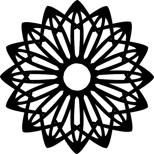 Black Flower Round Up: Free Vector Graphic: Abstract, Patterns, Floral, Flower