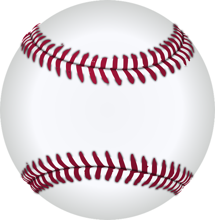 Baseball, White, Red, Designs, Patterns, Games, Sports