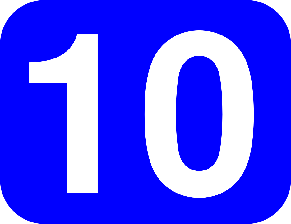 Number 10 Ten - Free vector graphic on Pixabay