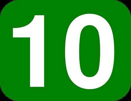 Aantal, 10, Tien, Afgerond, Rechthoek