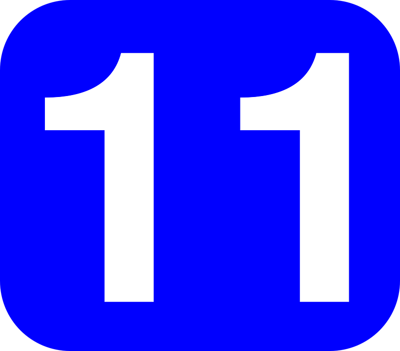 11 >> Number 11 Rounded Free Vector Graphic On Pixabay