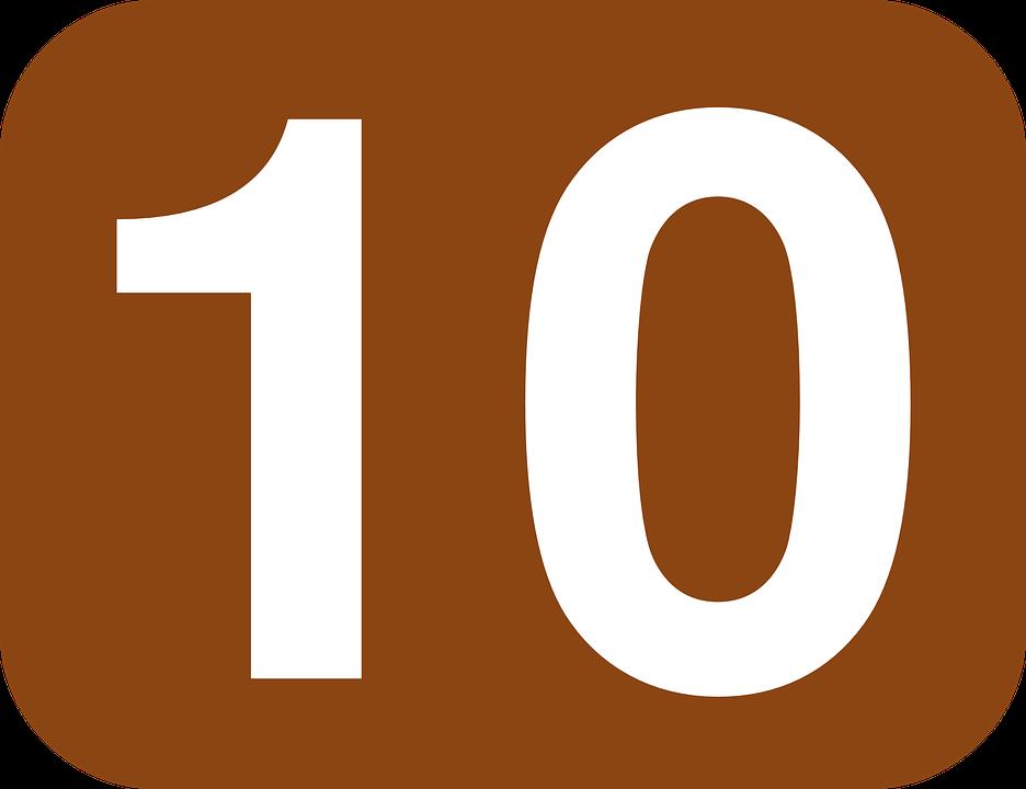Ten Number 10  U00b7 Free Vector Graphic On Pixabay