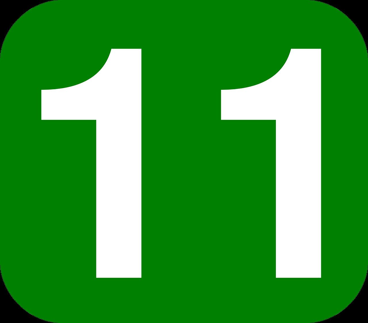 Картинки с цифрой 11
