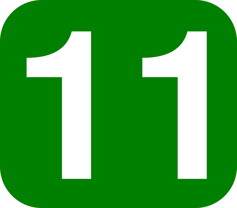 free vector graphic  eleven  number  11  rounded