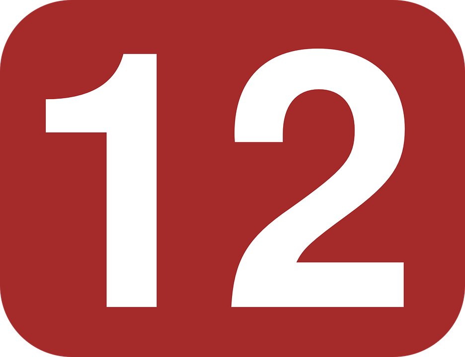 12 >> Twelve Number 12 Free Vector Graphic On Pixabay