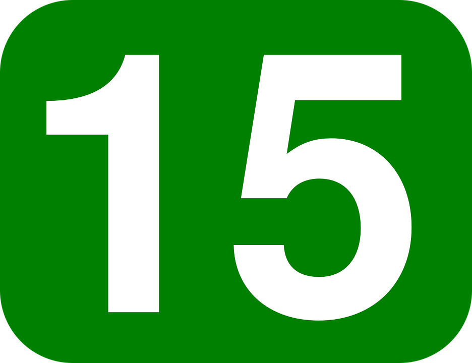 15 >> Number 15 Rounded Free Vector Graphic On Pixabay