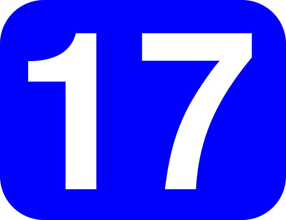 17 >> Number Seventeen 17 Free Vector Graphic On Pixabay