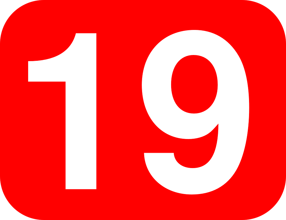 19 >> Number 19 Nineteen Free Vector Graphic On Pixabay