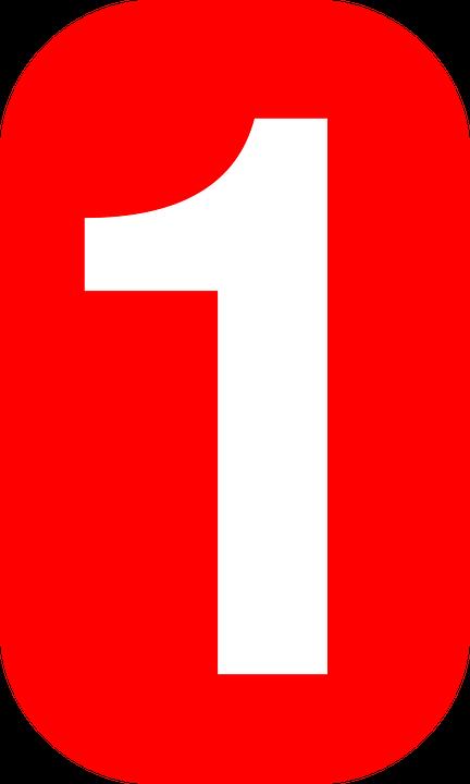 uma 1 número gráfico vetorial grátis no pixabay
