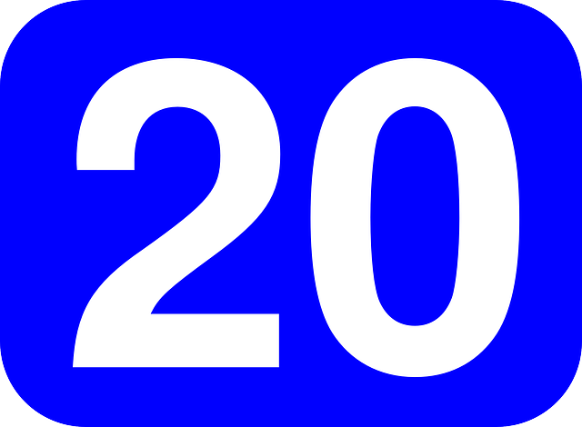 Twenty Number 20 · Free vector graphic on Pixabay20